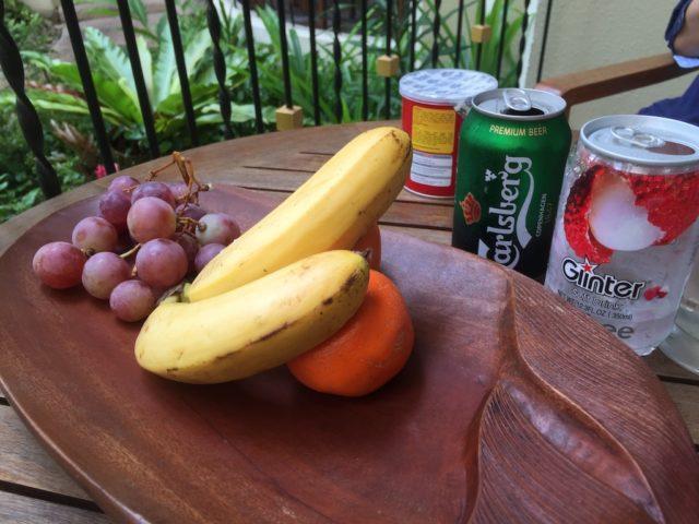 フルーツとビール