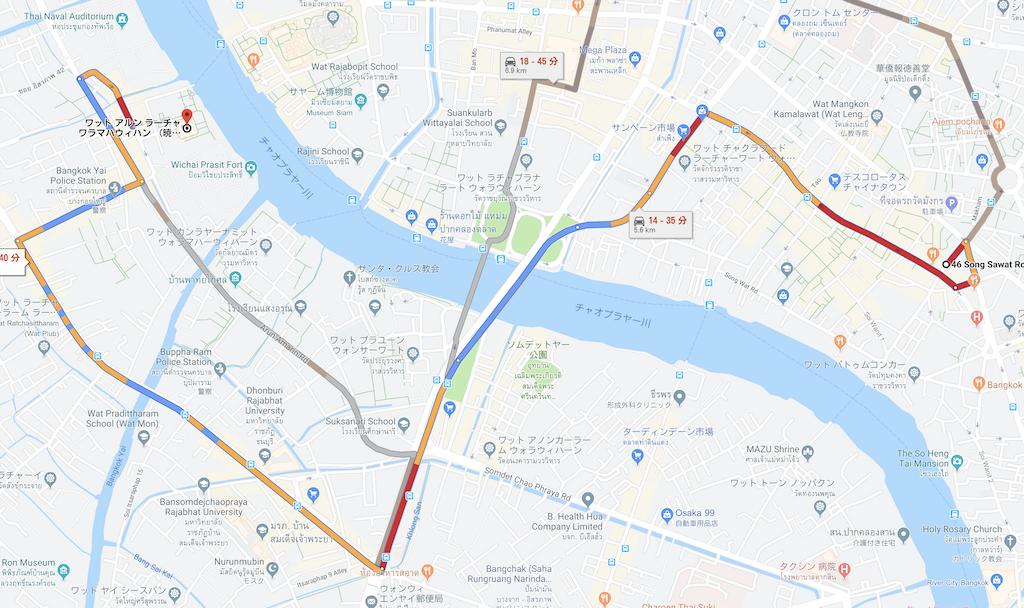 バンコクの地図